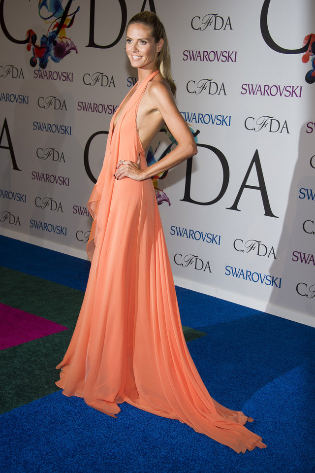 Photo - Heidi Klum attends the CFDA Fashion Awards on Monday, June 2, 2014 in New York. (Photo by Charles Sykes/Invision/AP)