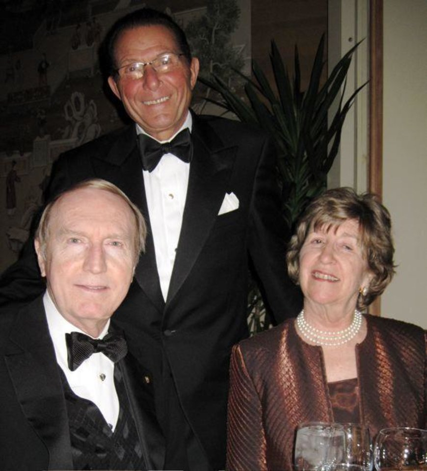 ROYAL TREATMENT...Mark Sullivan, Jim Vallion and Lela Sullivan were formally dressed for the black tie event at the Oklahoma City Golf and Country Club. (Photo by Helen Ford Wallace).