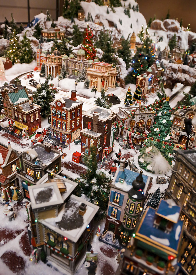 Christmas village grows from coffee table to three car