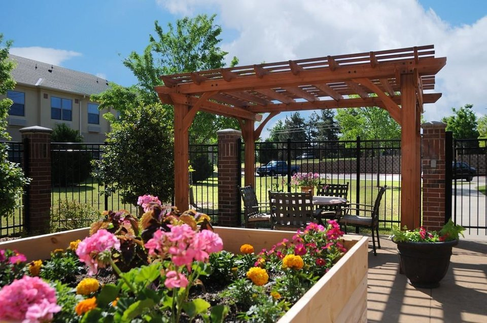 Photo - The memory patio at Concordia Life Plan Community. [PROVIDED]