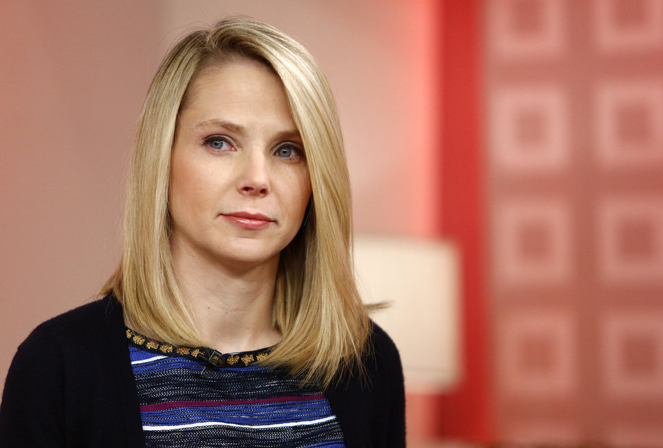 "This image released by NBC shows Yahoo CEO Marissa Mayer appearing on NBC News' ""Today"" show, Wednesday, Feb. 20, 2013 in New York to introduce the website's redesign. Yahoo is renovating the main entry into its website in an effort to get people to visit more frequently and linger for longer periods of time. The long-awaited makeover of Yahoo.com's home page is the most notable change to the website since the Internet company hired Marissa Mayer as its CEO seven months ago. The new look will start to gradually roll out in the U.S early Wednesday. (AP Photo/NBC Peter Kramer/NBC/NBC NewsWire)"