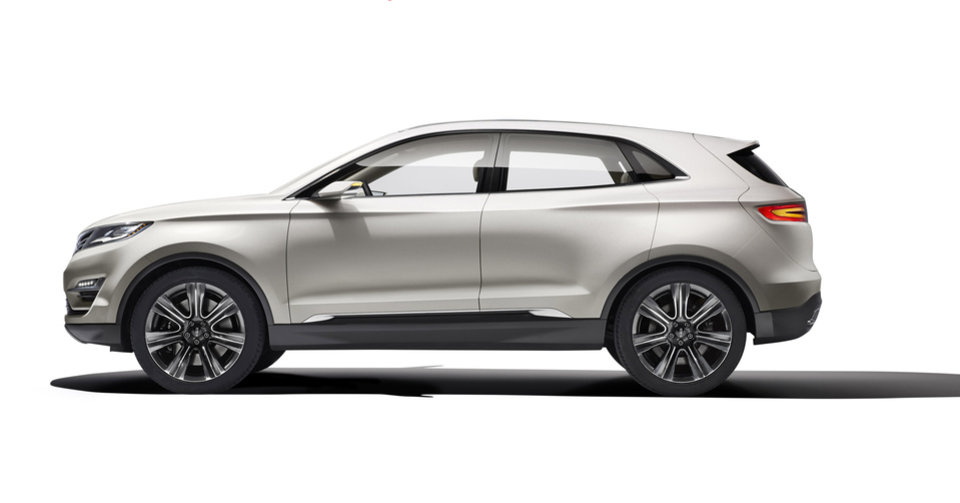 This product image provided by Ford shows the Lincoln MKC Concept revealed Sunday, Jan. 13, 2013. The Lincoln MKC Concept is Lincoln\'s attempt to enter the industry\'s fastest-growing segment: small luxury utility. (AP Photo/Ford)