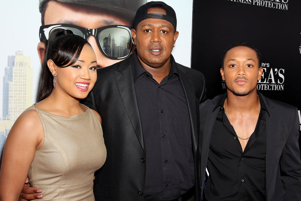 "This June 25, 2012 photo released by Starpix shows rapper-turned actor Romeo, right, his sister Cymphonique Miller, left, and their father hip hop artist Master P., at the premiere of Romeo's film, ""Tyler Perry's Madea's Witness Protection,"" in New York. Romeo says his hip-hop artist dad and filmmaker Tyler Perry have a similar work ethic and outlook on life. Perry directs and stars alongside Romeo in his latest comedy, ""Tyler Perry's Madea's Witness Protection,� in theaters Friday. (AP Photo/Starpix, Marion Curtis)"