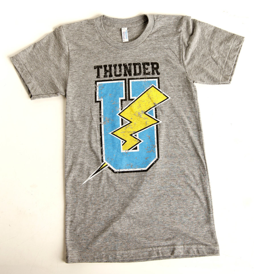 Photo - Thunder U T-shirt sold at Collected Thread. Photo by Doug Hoke, The Oklahoman  DOUG HOKE