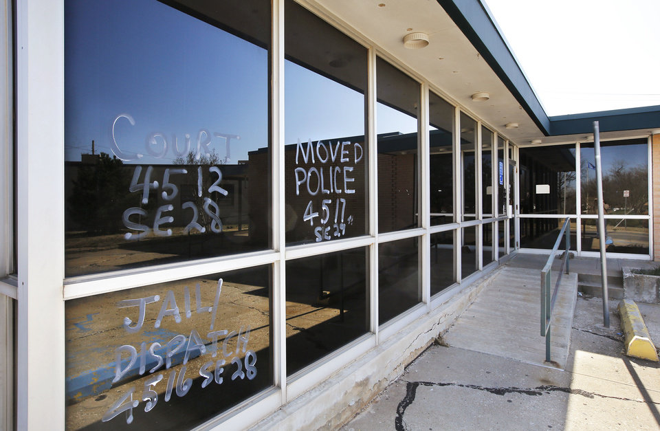 The building that for decades was headquarters for the Del City Police Department and municipal courts is scheduled to be demolished.     Photo by Jim Beckel, The Oklahoman <strong>Jim Beckel - THE OKLAHOMAN</strong>