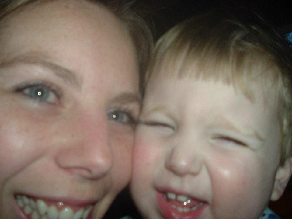 "My son and I ""cheesing it up"" for the camera!<br/><b>Community Photo By:</b> Heather Abshier<br/><b>Submitted By:</b> Heather, Bethany"