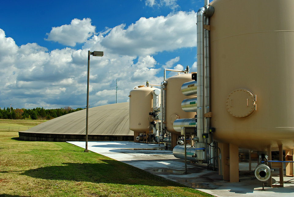 Photo - Garber-Wellington Aquifer. Edmond water treatment facility in Arcadia