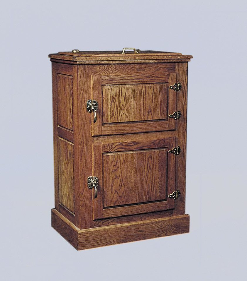 An oak ice box. Photo provided