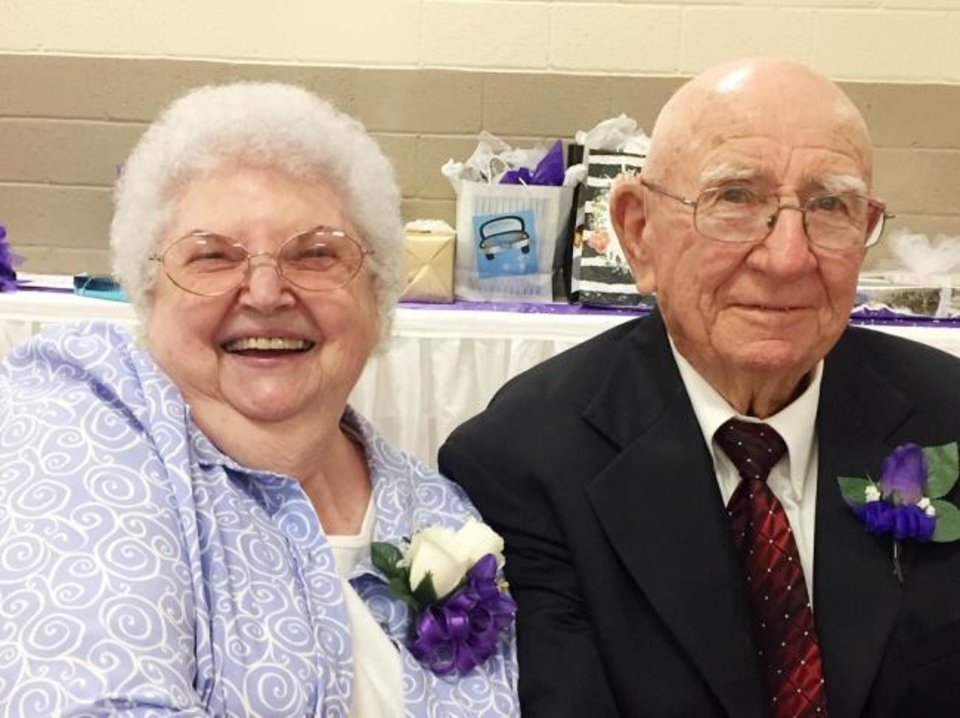 Photo -  64 years: Mertelene and Joe Zawisza, of Harrah, were married June 18, 1955, in Midwest City.