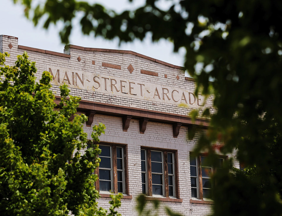 Photo -  The Main Street Arcade building is set to come back to life in 2015 as a mix of retail and office space.  Photos by Jim Beckel, The Oklahoman   Jim Beckel -  THE OKLAHOMAN