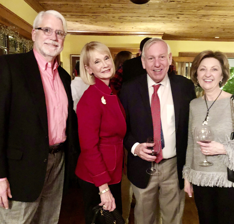 Photo - John and Deby Snodgrass, Bill Price, Sharon Caldwell. MARY PRICE PHOTO