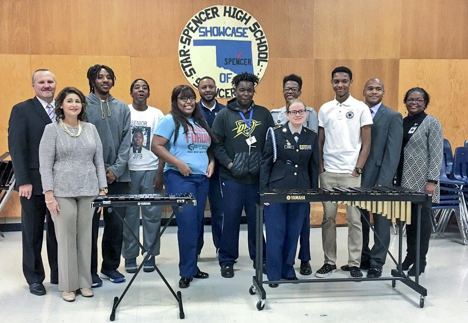 Photo -  Star Spencer High School has received a donation of new band instruments for the students. [PHOTO PROVIDED]