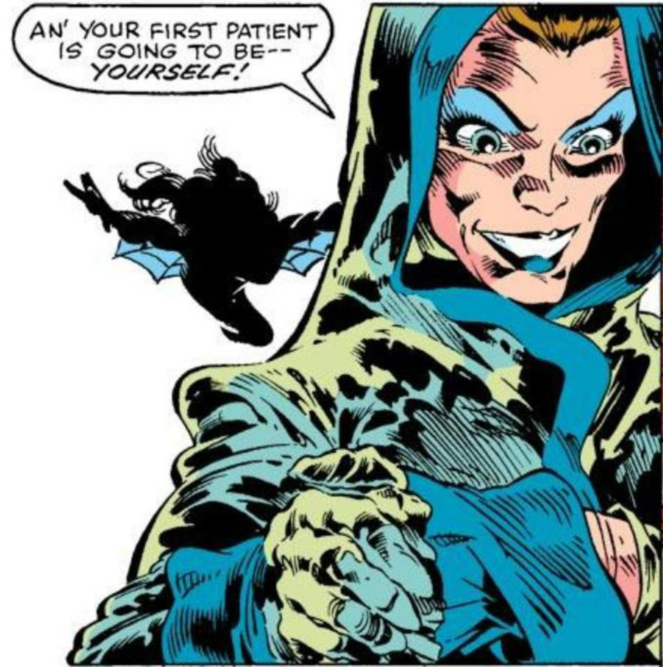 "Rogue, as seen in ""Avengers Annual"" No. 10, drawn by Michael Golden. Marvel Comics. <strong></strong>"