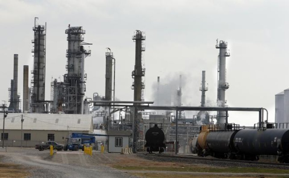 Photo -  The CVS Refinery in Wyneewood is shown in this 2013 file photo. [OKLAHOMAN ARCHIVES]