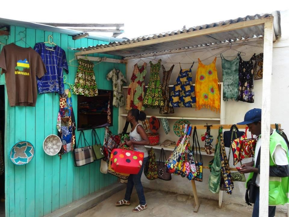 Photo - Elise Rida Musomandera's store located in Rwanda. Elise is a 2014 PEACE THROUGH BUSINESS(r) student. Photo by Terry Neese