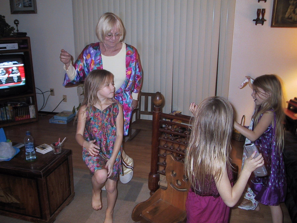 Vikie Kusek & Grand children Abby, Emily, & Abby Hurt, celebrating new years eve,playing musical chairs.<br/><b>Community Photo By:</b> Lance Day<br/><b>Submitted By:</b> vikie, Midwest City