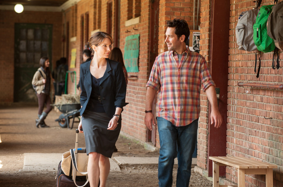 Photo - This film image released by Focus Features shows Tina Fey, left, and Paul Rudd in a scene from