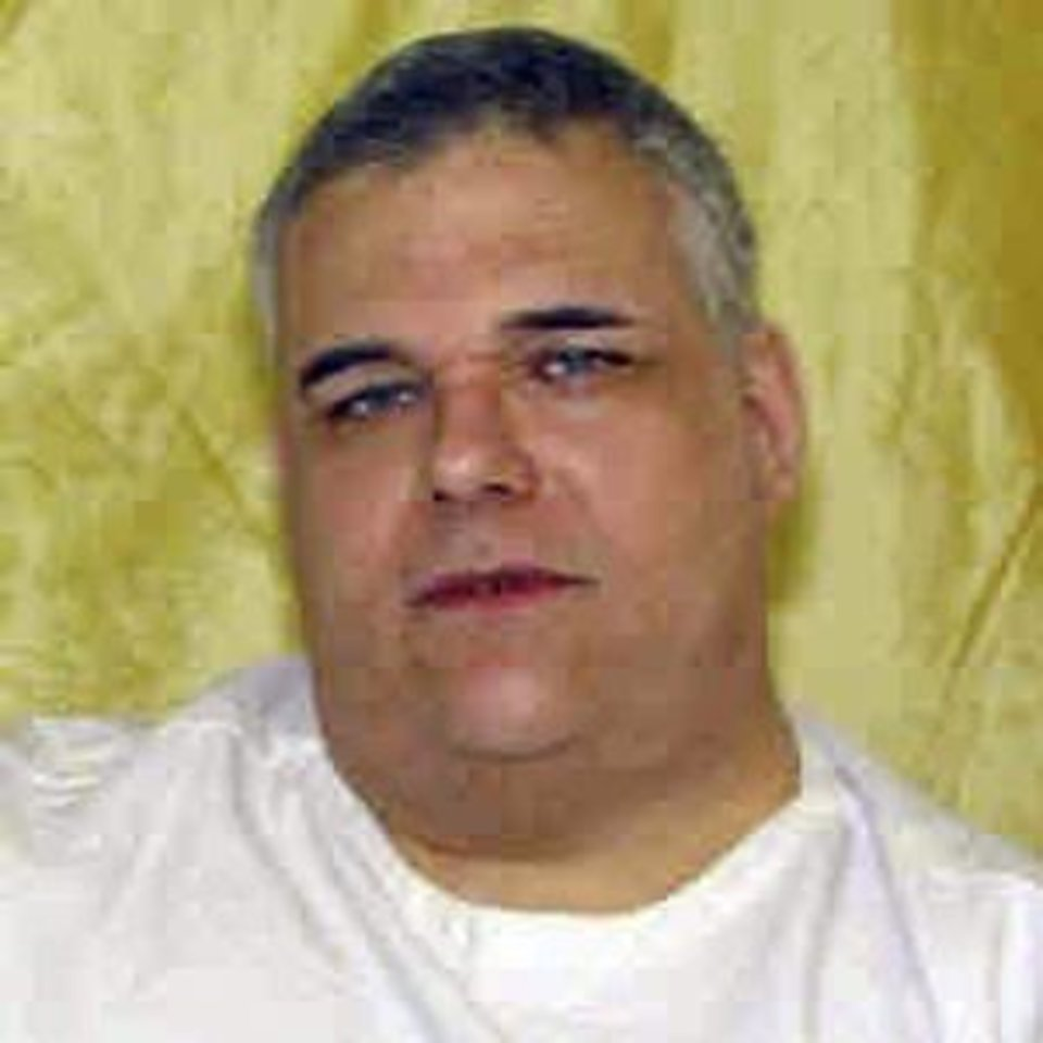 FILE - This undated file photo provided by the Ohio Dept. of Rehabilitation and Corrections shows death row inmate Ronald Post. Post, 53, is scheduled to be executed Jan. 16, 2013, for the 1983 shooting death of a hotel desk clerk. Post is trying to stave off execution, arguing that because of his obesity, an attempt to put him to death would amount to cruel and unusual punishment. (AP Photo/Ohio Dept. of Rehabilitation and Corrections, File)
