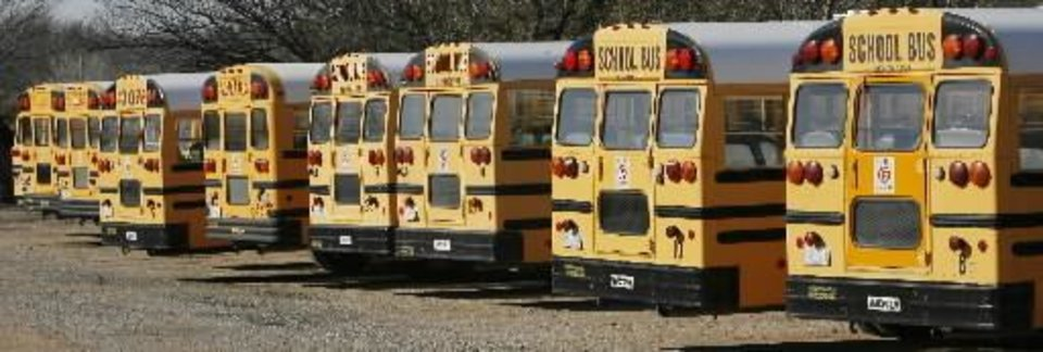 File photo of Edmond school buses by David McDaniel