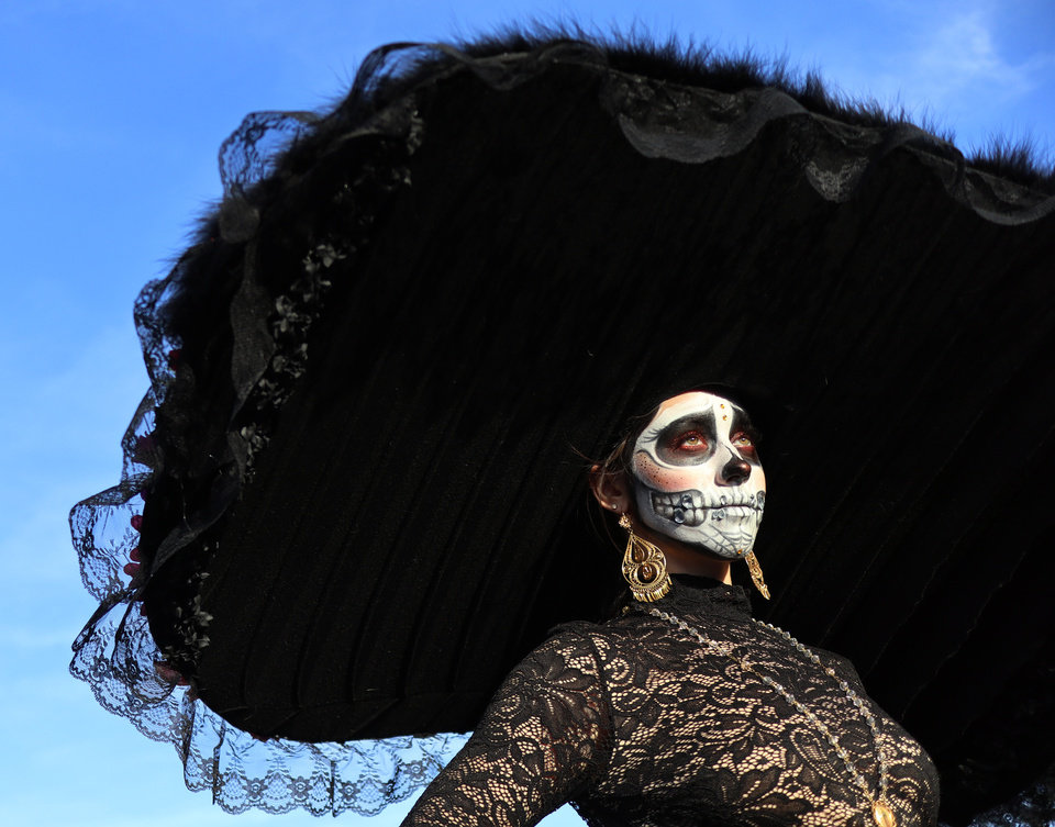 Photo - THE OK Magazine. Eden Cook, 20, during the Day of the Dead festival in the Plaza District Sunday, November 3, 2019. Photo by Doug Hoke