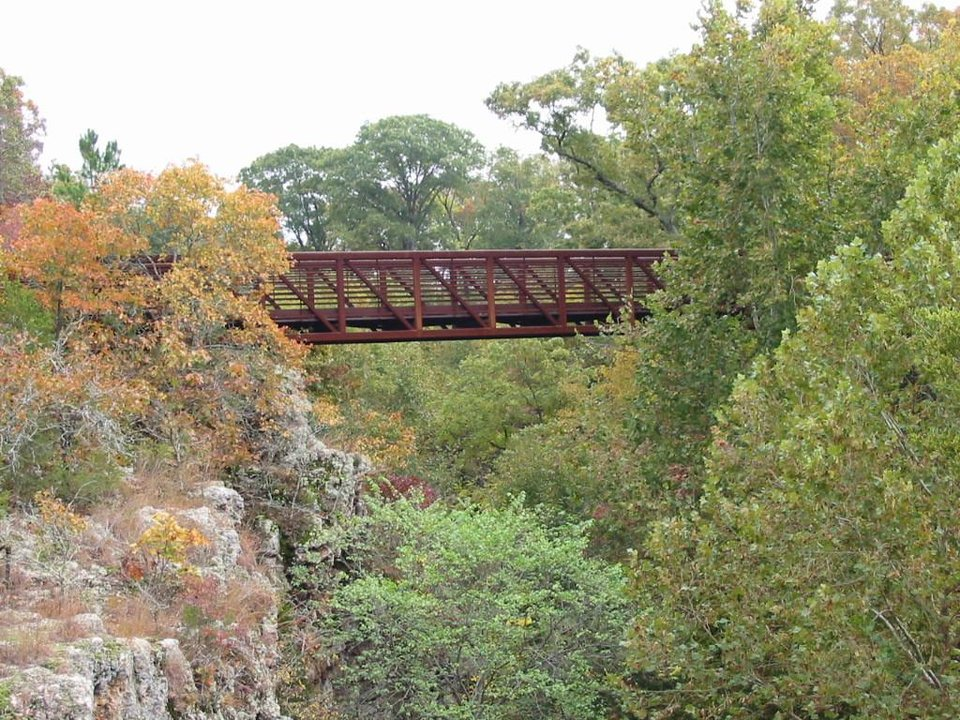 Bridge at Dripping Springs, N.E. Oklahoma.<br/><b>Community Photo By:</b> Billy Sparks<br/><b>Submitted By:</b> Billy, Choctaw