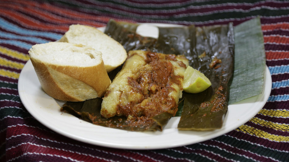 Tamales at Cafe Kacao in Oklahoma City. <strong>GARETT FISBECK - THE OKLAHOMAN</strong>