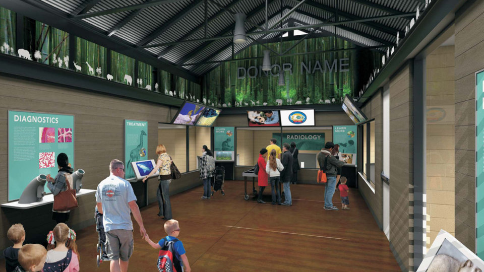 Photo - An artist  rendering of the proposed animal  hospital at Oklahoma  City Zoo.