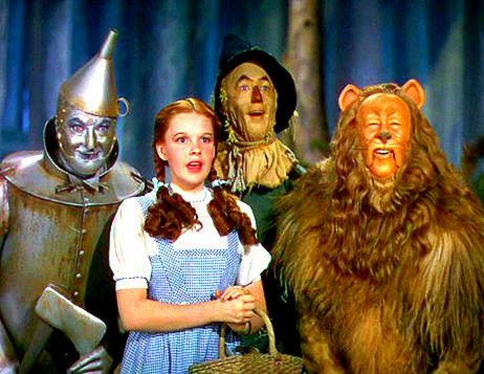 """Photo -  Characters from the movie classic """"The Wizard of Oz"""" — The Tin Man, Dorothy, the Scarecrow and Cowardly Lion — are shown in this scene. Photo provided"""