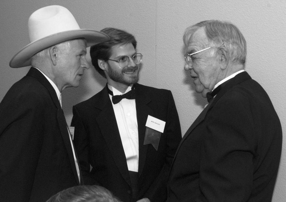 Photo - Singer Don Edwards with Jeff Skillen and Clem McSpadden at the 36th Annual Western Heritage Awards.
