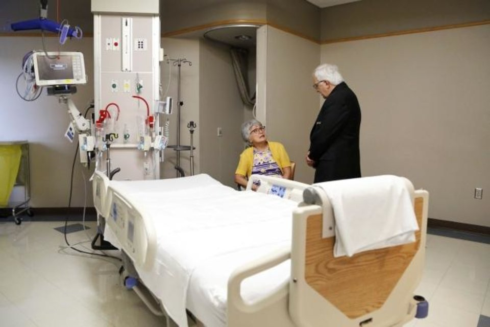 Photo -  Pat McClure, a volunteer for Mercy Hospital's new