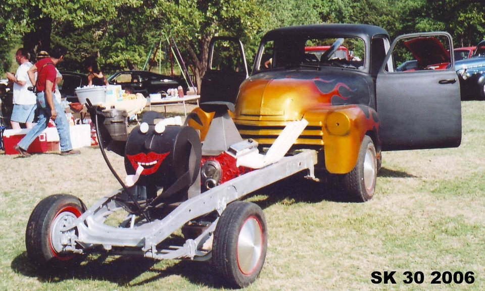 """Tom Gaut's """"Dragster Pickup"""" on display at Highland Park during the Street Kings Car Club's 30th anniversary.<br/><b>Community Photo By:</b> Tim Hawkins<br/><b>Submitted By:</b> jimmy, guthrie"""