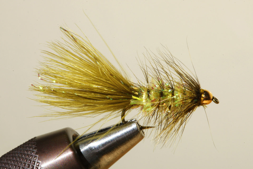 A Woolly Bugger fly for fly fishing at Backwoods in Oklahoma City Thursday, Jan. 17, 2013.  Photo by Paul B. Southerland, The Oklahoman