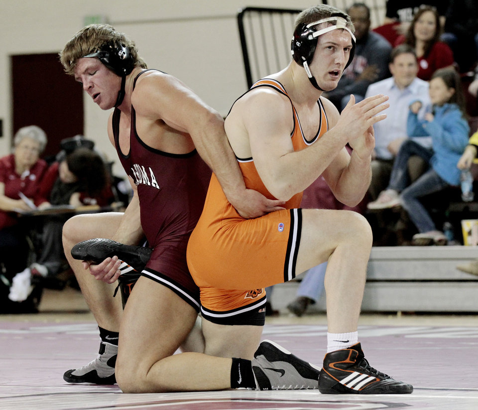 Bedlam wrestling cowboys need tiebreaker to nip sooners for 16 wrestlers and their huge homes