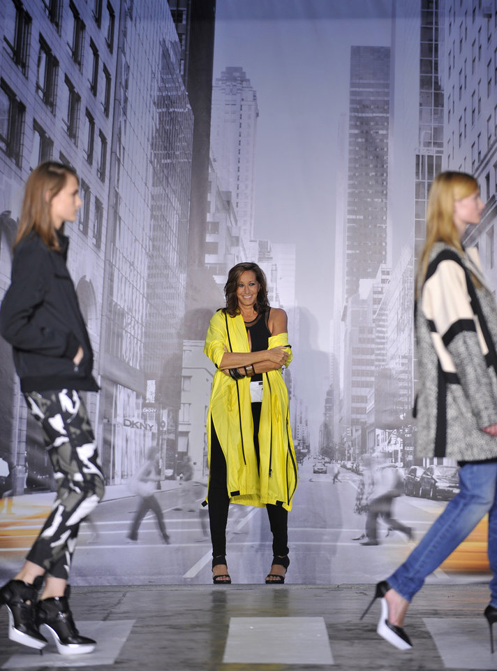 Photo -   The DKNY Spring 2013 collection is modeled during Fashion Week in New York on Sunday, Sept. 9, 2012. (AP Photo/Stephen Chernin)