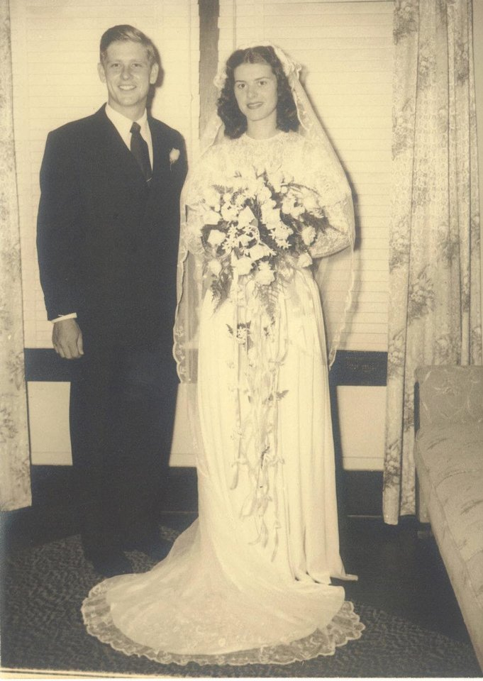Photo - Mr. and Mrs. E-H Collins, married Oct. 19, 1947. Photo provided by Marcia Keele. Provided