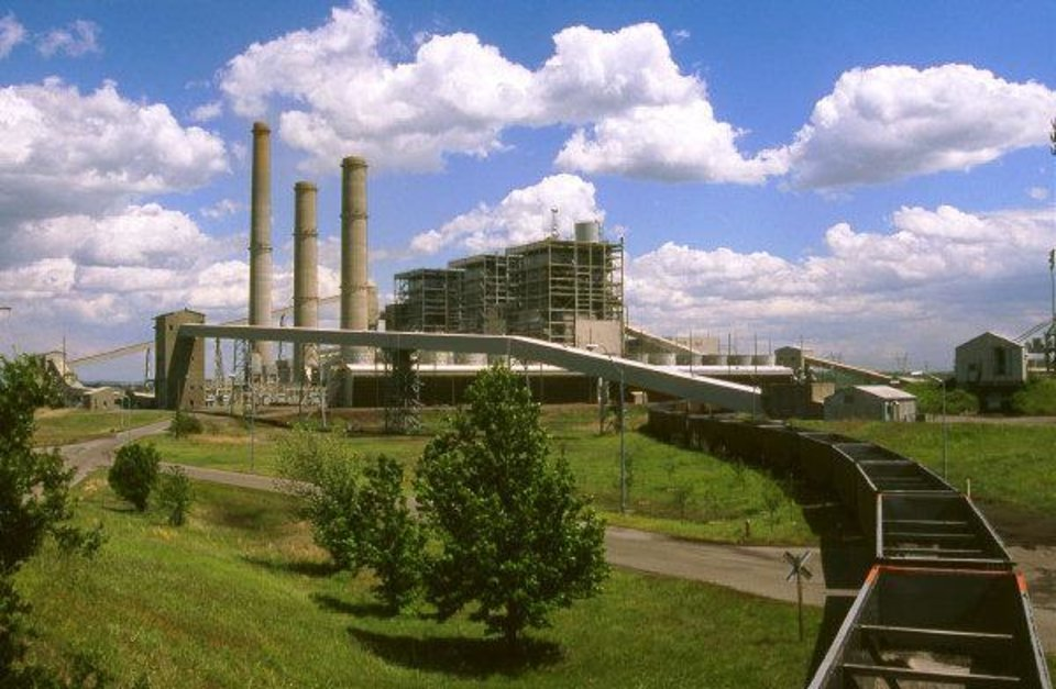 Oklahoma Gas and Electric Co. operates this coal-fired power plant in Muskogee. <strong> - provided</strong>