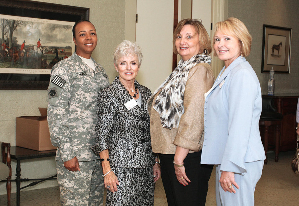 Photo - Above: Sgt. DeCarla Steele, Rita Aragon, Bonny Green, Pat Grisham.