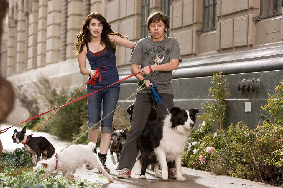 Photo - After finding a place to hide their dog Friday, Andi (Emma Roberts) and her brother Bruce (Jake T. Austin) wind up giving shelter to most of the strays in town in