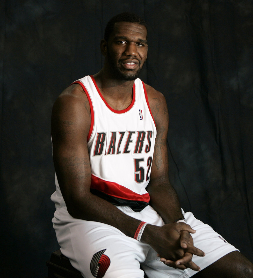 Photo - NBA BASKETBALL PLAYER: In this photo taken on Monday, Sept. 18, 2009, Portland Trail Blazers center Greg Oden is shown during Blazers media day in Portland, Ore. After an inconsistent debut season, Oden reinvented himself during the summer by shedding 15 pounds, adding a couple of new moves and changing his attitude.(AP Photo/Don Ryan) ORG XMIT: ORDR103