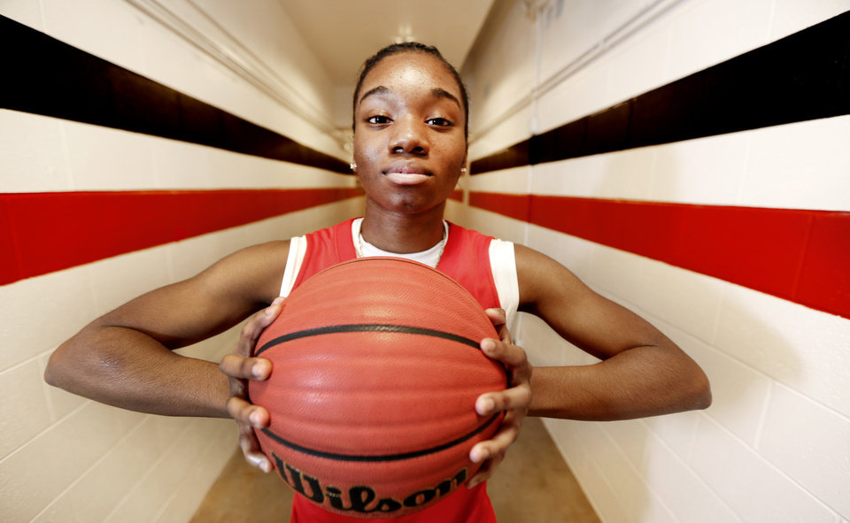 Del City High School's Dionna Collins in Del City, Wednesday March 6, 2013. Photo By Steve Gooch, The Oklahoman