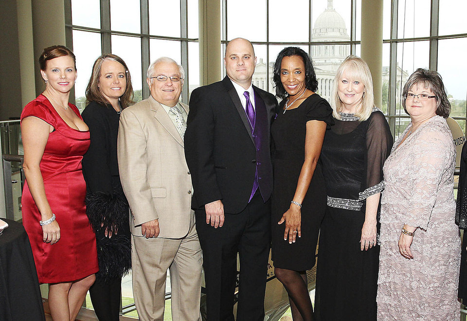 Sherena Kish, Michelle Graham, Leonard Skodak, Craig Bielamowicz, Kay Maples, Vickie Cartwright, Redawna Heckart.  PHOTOs BY DAVID FAYTINGER, FOR THE OKLAHOMAN