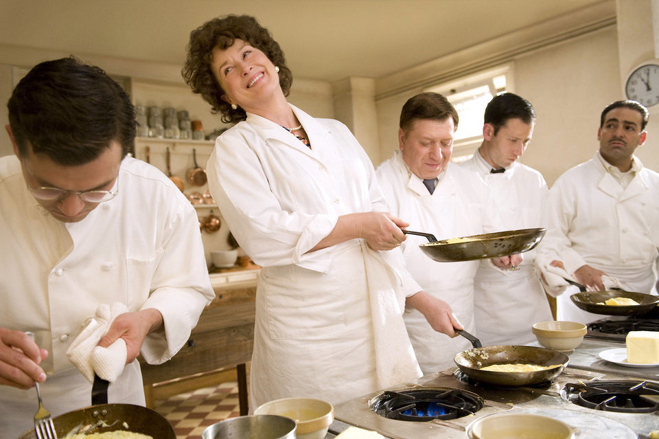 Photo - In this film publicity image released by Columbia Pictures, Meryl Streep portrays Julia Child in a scene from
