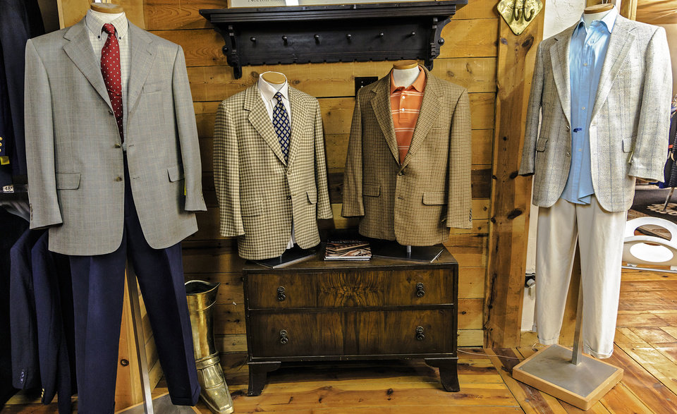 Nearly New in Oklahoma City has a men's section upstairs, which is unusual for a local consignment shop. Photo by Chris Landsberger, The Oklahoman. <strong>CHRIS LANDSBERGER</strong>