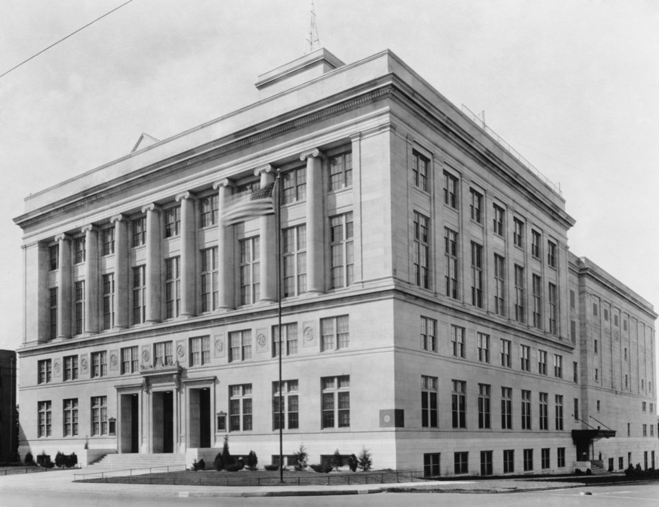 The Journal Record Building was the Masonic Temple when it opened in 1923. OKLAHOMAN ARCHIVES PHOTO