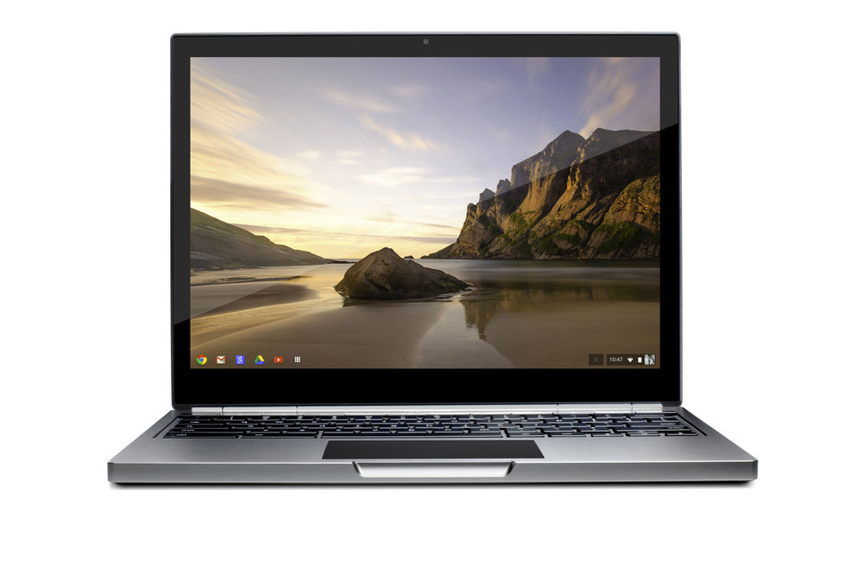 This image provided by Google shows the company's first high-end chromebook Pixel. According to a review by the Associated Press, the Machine feels light and comfortable in my hands and its high-resolution display makes photos appear sharp. (AP Photo/Google)