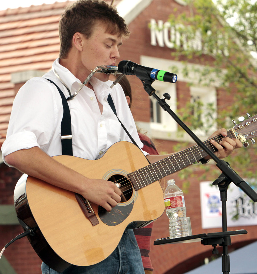 Parker Millsap, Purcell singer/songwriter, sings during the Norman Music Festival on Saturday, April 28, 2012, in Norman, Okla.  Photo by Steve Sisney, The Oklahoman