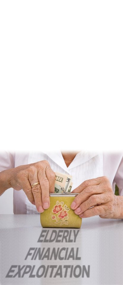 Photo - FINANCIAL ELDER ABUSE / MISTREATMENT / GRAPHIC: ELDERLY FINANCIAL EXPLOITATION
