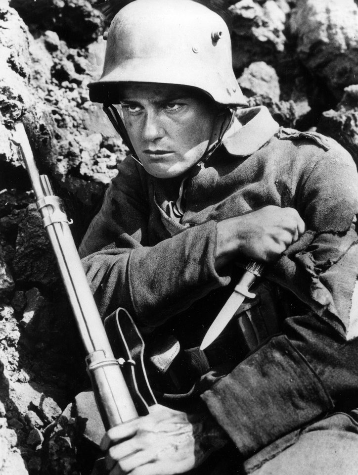 Photo - In this 1930 file photo, actor Lew Ayres performs the role of Paul Baumera in the 1930 war movie