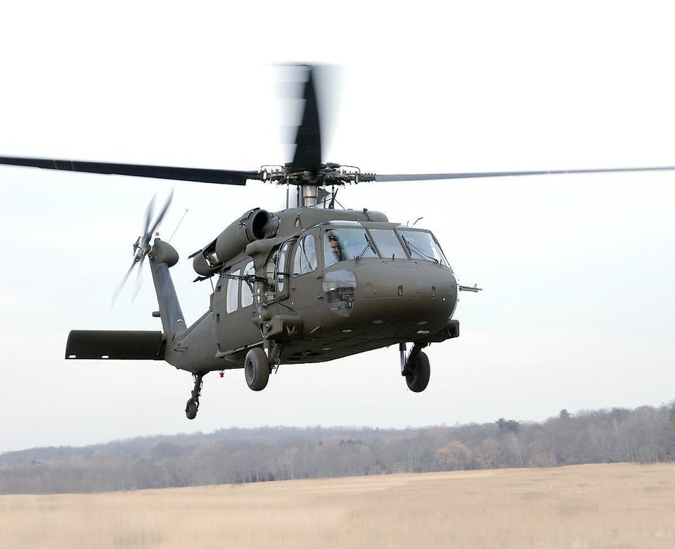 A Black Hawk helicopter by Sikorsky, which announced Friday it will open a training center in Altus.  PHOTO PROVIDED