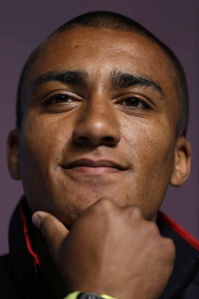 Ashton Eaton scored 9,039 points — the record — at the U.S. Olympic track and field trials in June.  AP PHOTO